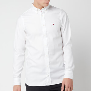 Tommy Hilfiger Men's Slim Essential Dobby Shirt - Bright White