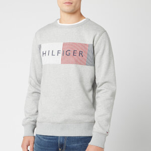 Tommy Hilfiger Men's Hilfiger Logo Sweatshirt - Cloud Heather
