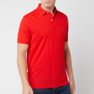 Tommy Hilfiger Men's Tommy Regular Polo Shirt - Fiery Red