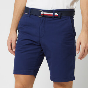 Tommy Hilfiger Men's Brooklyn Light Twill Shorts with Belt - Medieval Blue