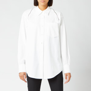 Alexander Wang Women's Button Down with Shoulder Zippers - White