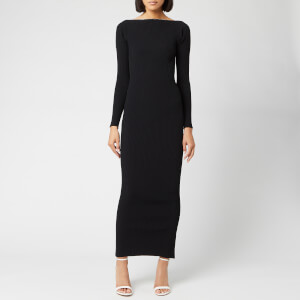 Alexander Wang Women's Moving Rib Long Sleeve Dress - Black