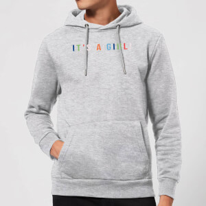 It's A Girl Hoodie - Grey