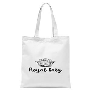 Royal Baby Tote Bag - White