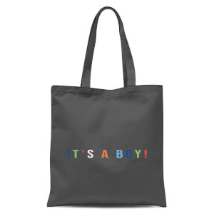 It's A Boy Tote Bag - Grey