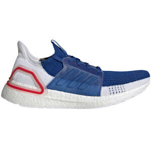 adidas Ultra Boost 19 Running Shoes - White/Blue