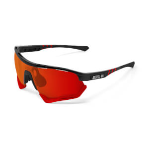 Scicon Aerotech Sunglasses SCN-XT Photochromic Red Mirror Lens - Black Gloss Frame