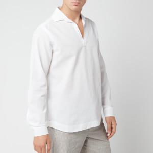 Orlebar Brown Men's Ridley Waffle Shirt - White