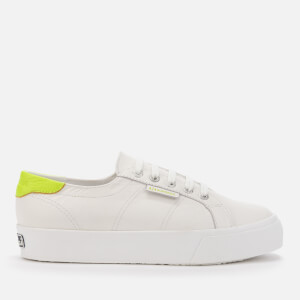 Superga Women's 2730 Nappasueu Trainers - White Yellow/Fluo