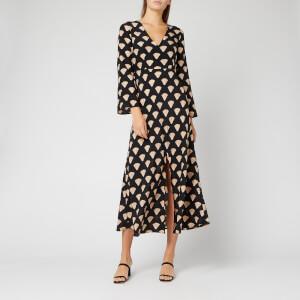RIXO Women's Nora Dress - Gold Foil Shell