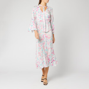 RIXO Women's Amel Dress - Floral Story/Peach Teal