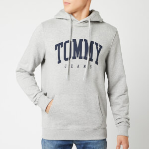 Tommy Jeans Men's Essential Tommy Hoodie - Light Grey Heather