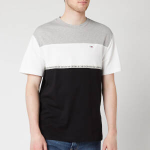 Tommy Jeans Men's Colour Blocked Tape T-Shirt - Light Grey Heather
