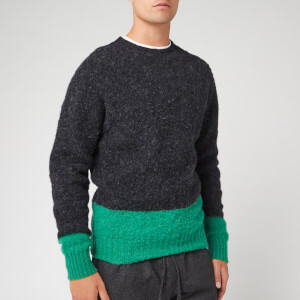 YMC Men's Renegade Crew Jumper - Charcoal/Green