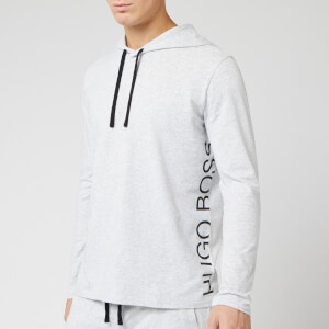 BOSS Men's Nightwear Identity Long Sleeve Hooded T-Shirt - Grey