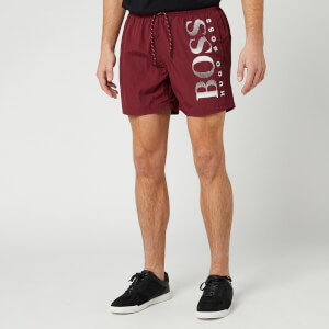 BOSS Men's Octopus Swim Shorts - Burgundy