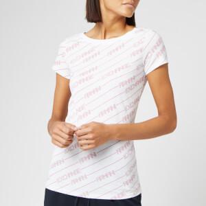 Armani Exchange Women's Logo Print T-Shirt - White/Pink