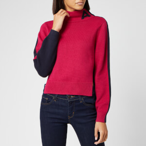 Armani Exchange Women's Logo Knit Jumper - Pink/Blue