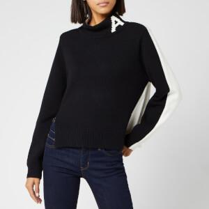Armani Exchange Women's Logo Knit Jumper - Black/White