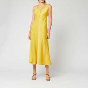 Whistles Women's Pippa Satin Slip Dress - Yellow