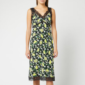 Diane von Furstenberg Women's Issey Midi Dress - Lemons Collage Black