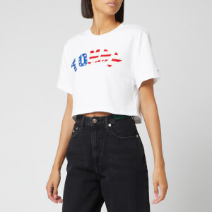 Tommy Jeans Women's Tommy US Flag T-Shirt - Classice White