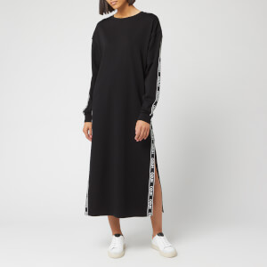 HUGO Women's Nuery Logo Tape Midi Dress - Black