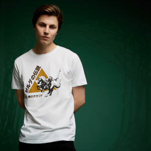 T-Shirt Legend Of Zelda Triforce Link - Blanc