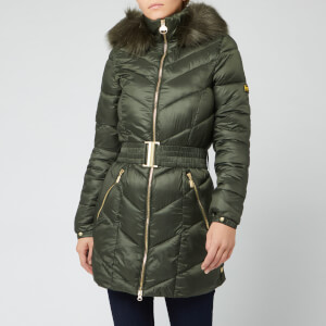 Barbour International Women's Highpoint Quilt Coat - Moto Green