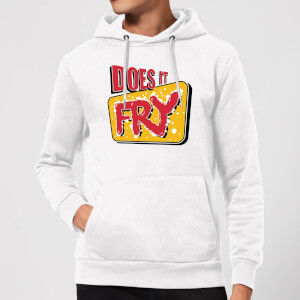 Does It Fry Logo Hoodie - White