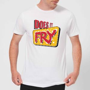 Does It Fry Logo Men's T-Shirt - White