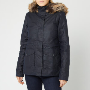 Barbour Women's Scallop Wax Jacket - Royal Navy