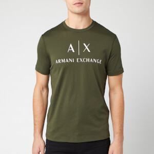 Armani Exchange Men's Classic Logo T-Shirt - Oliver Green