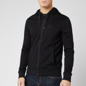 Armani Exchange Men's Small Logo Zip Through Hoodie - Black