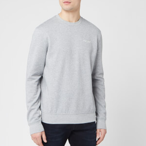 Armani Exchange Men's Small Chest Logo Sweatshirt - Alloy Heather