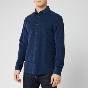 Armani Exchange Men's Cord Long Sleeve Shirt - Sargasso