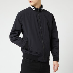 Calvin Klein Jeans Men's Logo Collar Nylon Jacket - CK Black