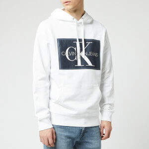 Calvin Klein Jeans Men's Monogram Patch Hoodie - Bright White