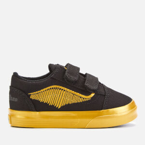 Vans X Harry Potter Toddler's Golden Snitch Old Skool Velcro Trainers - Black