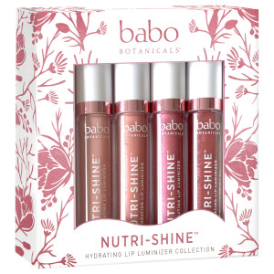 Babo Botanicals Nutri-Shine Luminizer Vegan Lip Gloss Gift Set (Set of 4, Worth $75.80)