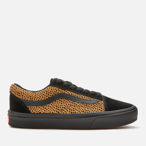 Vans ComfyCush Women's Tiny Cheetah Old Skool Trainers - Black