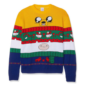 Adventure Time Finn & Jake Kintted Christmas Jumper