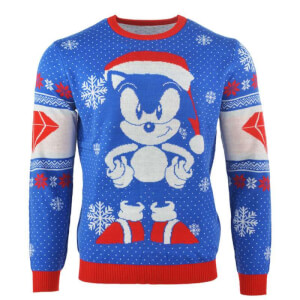 Sonic the Hedgehog Sonic Gem Kintted Christmas Jumper