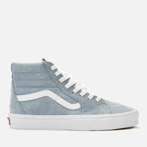 Vans Women's Sk8-Hi Suede Trainers - Blue Fog/True White