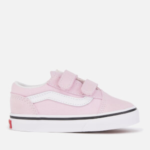 Vans Toddlers' Old Skool Velcro Trainers - Lilac Snow/True White