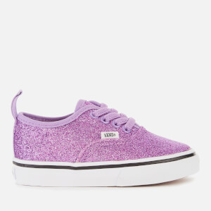 Vans Toddlers' Authentic Elastic Lace Glitter Trainers - Fairy Wren/True White