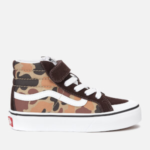 Vans Kids' Sk8-Hi Reissue 138 Vintage Camo Trainers - Chocolate Torte/True White