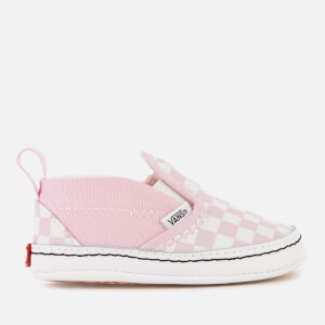 Vans Babies' Slip-On Velcro Trainers - Lilac Snow/True White