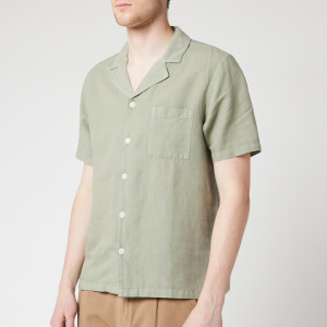 Folk Men's Soft Collar Shirt - Washed Green