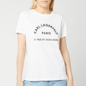 Karl Lagerfeld Women's Address Logo T-Shirt - White